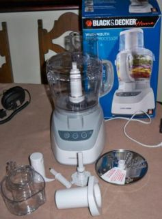 Black & Decker 10 Cup White Wide Mouth Food Processor Chop Shred Puree