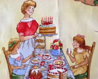 Kaufman Birthday Party Cake Kids Cotton Quilt Fabric