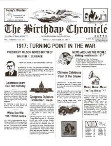 Personalized Birthday Chronicle Day You Were Born Print