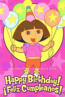 Dora The Explorer Happy Birthday Card Feliz Cumpleanos