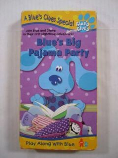 Blues Clues Blues Big Pajama Party Childrens VHS Tape
