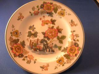 Wedgwood of Etruria Barlaston Plate Eastern Flowers Pattern Made in