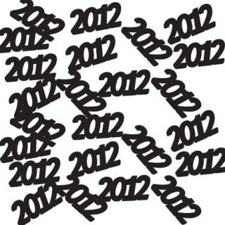 Graduation Party Supplies 2012 BLACK TABLE CONFETTI DECORATION