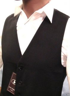 Mens High Street Quality Black Waistcoat Free Black Tie