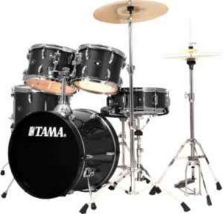 TAMA Black Stagestar 5 Piece Drum Set w/ Cymbals Pads Seat ETC GREAT