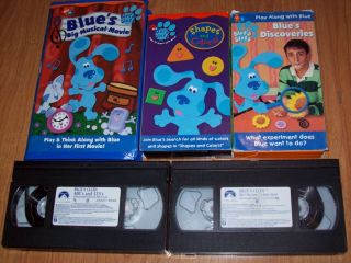 HUGE NICK JR BLUES CLUES VHS MOVIE KIDS CHILDREN VIDEO TAPES LOT