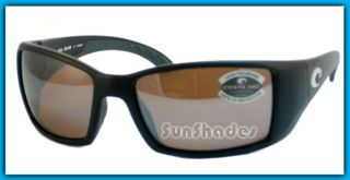 New Costa Del Mar Blackfin Silver Mirror 580 Sunglasses