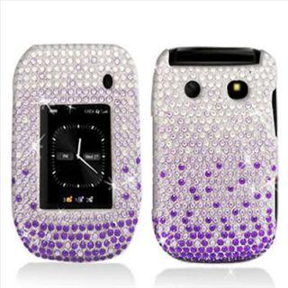 Purple Bling Hard Case Cover for Blackberry Style 9670