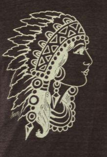 Sailor Jerry Mens Indian Head Tatttoo Tee Shirt Onyx