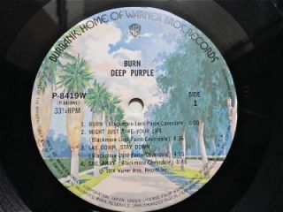 Purple Burn Japan LP OBI P 8419W Ritchie Blackmore Rainbow EX