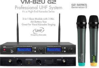 2012 BMB VM82U G2 Dual CH UHF Wireless Microphone System Better Music