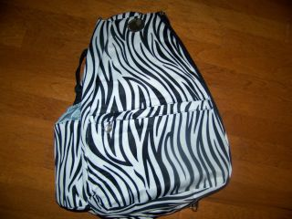 Jetpac Tennis Zebra Animal Print Black White Tennis Bag Jet Pac Sling