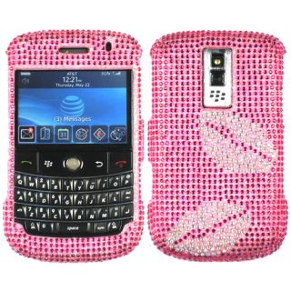 PINK LIPS BLING RHINESTONE CASE COVER FOR BLACKBERRY BOLD 1 9000