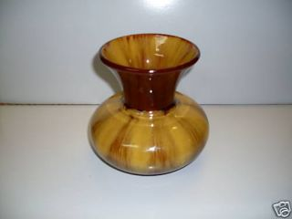 Blue Mountain Pottery Harvest Gold Squatty Vase