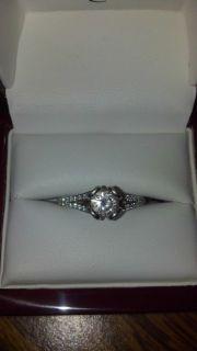 Blue Nile Platinum Round Diamond 14k Engagement Ring