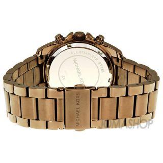 Michael Kors Blair Chronograph Brown PVD Ladies Watch MK5493