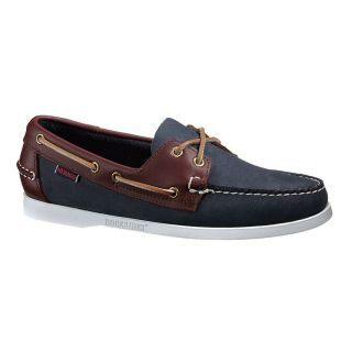 Mens Spinnaker Blue Brown Leather Docksides Boat Shoes B72852