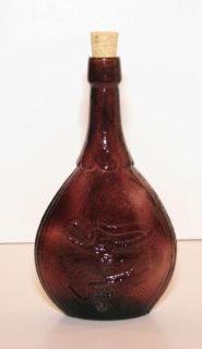 Purple Amethyst Art Glass Hand Blown Wheaton New Jersey Union Bottle