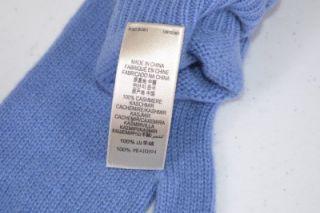 BURBERRY $175 100% CASHMERE BLUEBELL BLUE NOVA CHECK MITTENS GLOVES