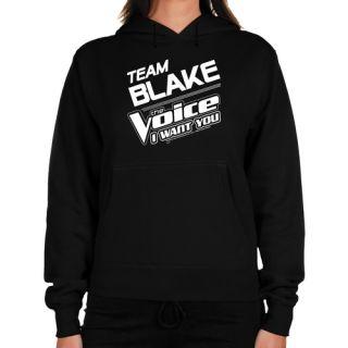 The Voice Ladies Team Blake Midweight Pullover Hoodie   Black