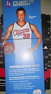 Blake Griffin Los Angeles Clippers NBA Basketball Bookmark Full Color