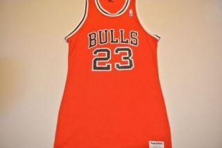 Vtg Sand Knit No Name Michael Jordan Chicago Bulls Sand Knit Jersey XS