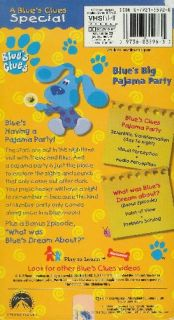 Blues Clues Blues Big Pajama Party VHS