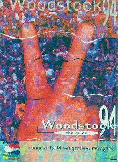Bob Dylan 1994 Woodstock Festival Concert Program Guide