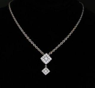 Charriol Diamond Flamme Blanche 18K White Gold Pendant