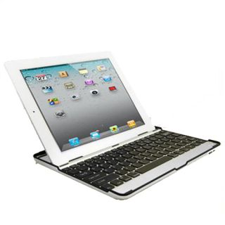 Aluminum Bluetooth Keyboard Case Stand iPad 2 3 Wireless The New iPad