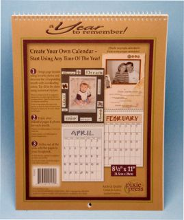 12 Month Blank Calendar Pages Kit 8 5 x 11