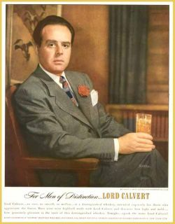 Newspaper Executive Robert L Smith in 1947 Lord Calvert Whiskey