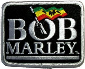 description brand new licensed bob marley iron on patch size 2