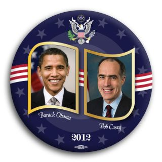Bob Casey Senator Pennsylvania Barack Obama 2012 Democrat Badge Button