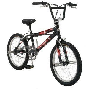 Boys Freestyle Bike 20 inch Wheels Bicycle Black BMX Pegs Trick