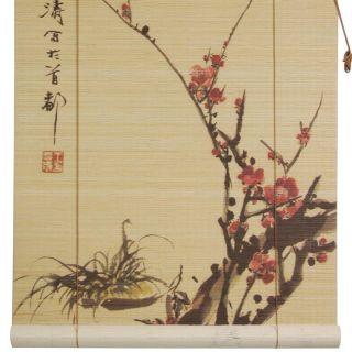 Oriental Furniture Sakura Blossom Bamboo Blinds 36 Width