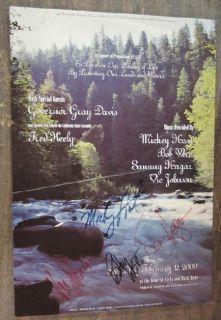 Bob Weir Sammy Hagar Signed Concert Poster Autograph Original Grateful