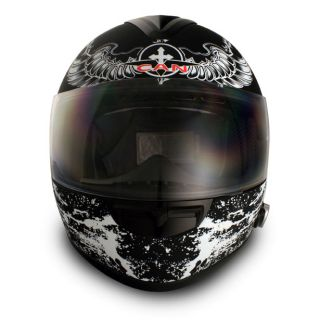 Bluetooth Full Face Motorcycle Helmet Large L 2SPEAKER