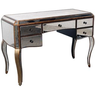 Vanity Table Desk Home Office Shine Bling New Style Wood Trim