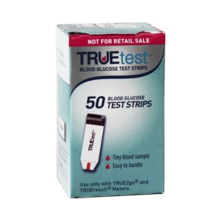 New True Test Diabetic Blood Glucose Test Strips 50 Ct