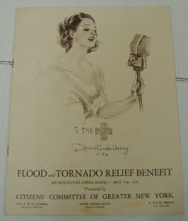 Benefit Program Met Opera House NY Jack Benny Robert Ripley