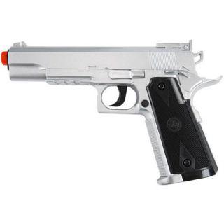 450 fps TSD M1911 CO2 Non Blowback Airsoft Gun Pistol Silver 45 ACP
