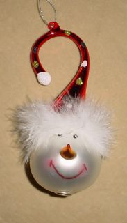 Glass Snowman Christmas Ornament Super Cute Robert Stanley New