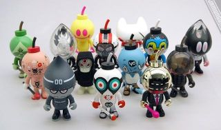 BUD BLOW UP DOLLS SERIES 3 FULL CASE VINYL FIGURES KOZIK MUTTPOP FERG