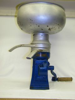 Antique Royal Blue Cream Separator Circa 1930s Farm Barn Cow Dairy