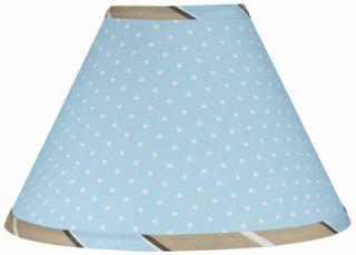 Lamp Shade Blue Brown Polka Dots JoJo Designs Lampshade