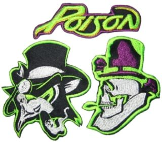 Set Poison Embroidered Patches Bret Michaels Bobby Dall