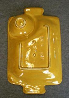 Vtg California Pottery Blue Cheese Spread Snack Chip DIP Dish Mustard