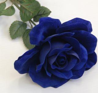 Artificial Silk Flower Rose Blue Roses Flowers Bulk