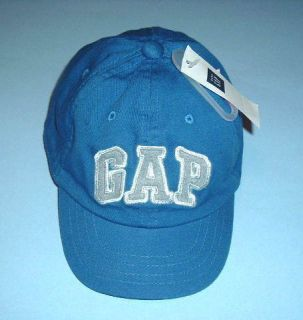 BABY GAP BLUE ARCH LOGO BASEBALL HAT CAP TODDLER S M NWT NEW